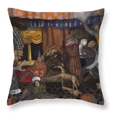Childrens Masquerade Throw Pillow