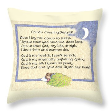 Child's Evening Prayer Throw Pillow