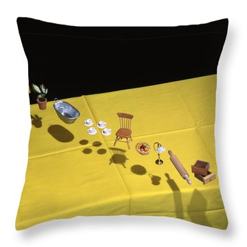 Child's Play Throw Pillow by Daniel Furon