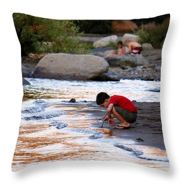 Childs Play Throw Pillow by Melanie Lankford Photography