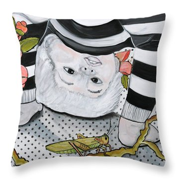 Child's Pose Throw Pillow by Darlene Graeser