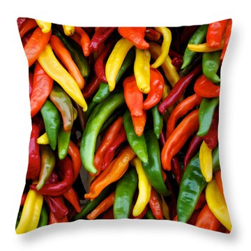 Chile Ristras Throw Pillow
