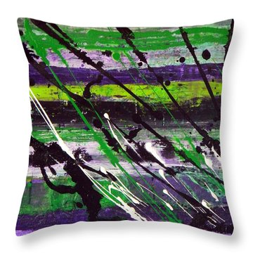Throw Pillow featuring the painting Chile Verde by Everette McMahan jr