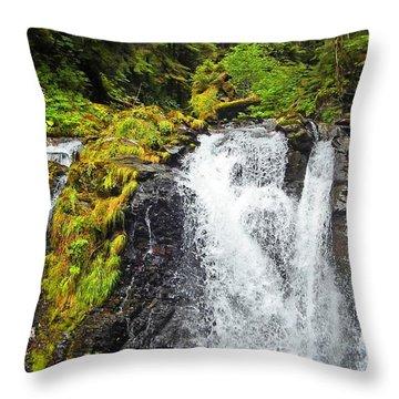 Chilkoot Falls Throw Pillow
