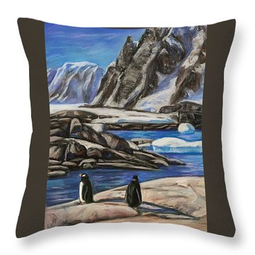 Chill Out Throw Pillow by Heather Kertzer