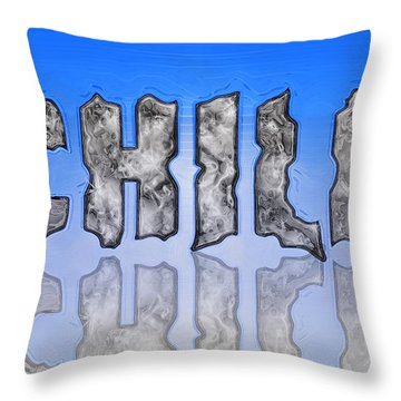 Chill Digital Art Prints Throw Pillow by Valerie Garner
