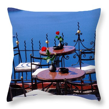 Chillax Throw Pillow by Haleh Mahbod