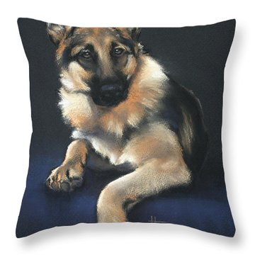Throw Pillow featuring the drawing Chilli by Cynthia House