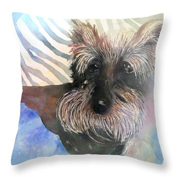 Throw Pillow featuring the painting Chilling Out by Arline Wagner