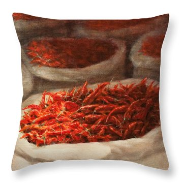 Chillis 2010 Throw Pillow by Lincoln Seligman