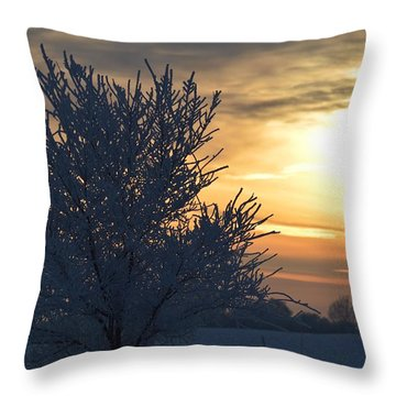Chilly Sunrise Throw Pillow