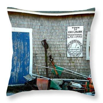 Chilmark Dock Shack Throw Pillow