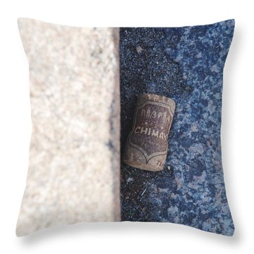 Chimay Wine Cork Throw Pillow by Rob Hans