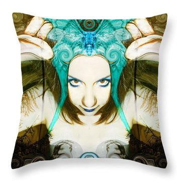 Throw Pillow featuring the photograph Chimera by Heather King