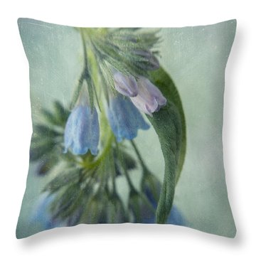 Chiming Bells Part I Throw Pillow by Priska Wettstein