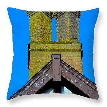 Chimney Abstract Throw Pillow by Ed Weidman