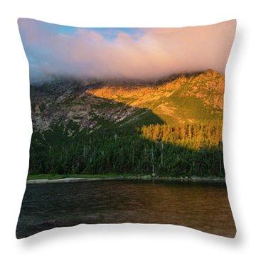 Chimney Pond And Mount Katahdin Throw Pillow