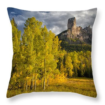 Chimney Rock San Juan Nf Colorado Img 9722 Throw Pillow