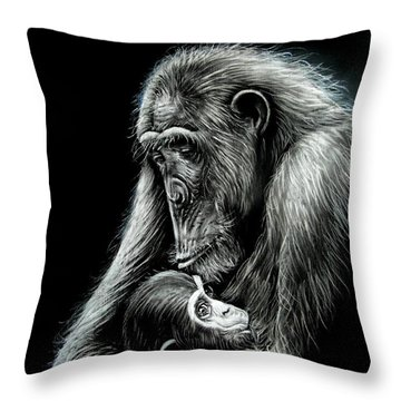 Chimp Love Throw Pillow by Anastasis  Anastasi