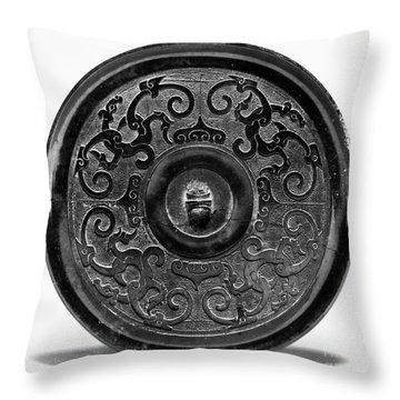 China - Bronze Mirror Throw Pillow by Granger