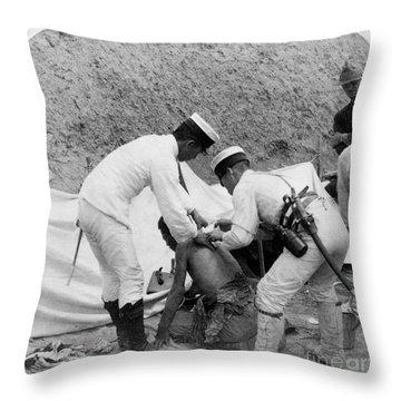 China: Boxer Rebellion, C1901 Throw Pillow by Granger