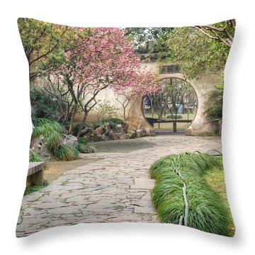 China Courtyard Throw Pillow
