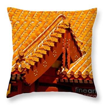 China Pavilion Throw Pillow by Joy Hardee
