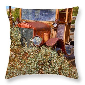 Throw Pillow featuring the photograph China Ranch Truck by Jerry Fornarotto