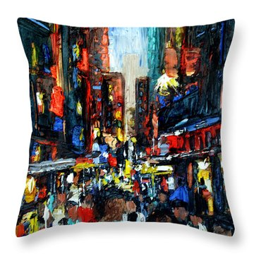 China Town Throw Pillow by Anthony Falbo