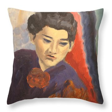 China Woman 1938 Throw Pillow