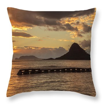 Chinaman's Hat 5 Throw Pillow by Leigh Anne Meeks