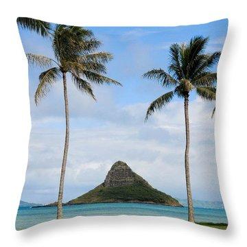 Chinaman's Hat - Oahu Hawai'i Throw Pillow