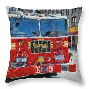 Chinatown Dragonfighters Throw Pillow