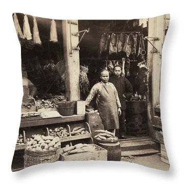 Chinatown Grocery Store Throw Pillow