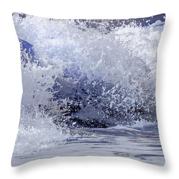 Throw Pillow featuring the photograph Chincoteague Waves by Olivia Hardwicke