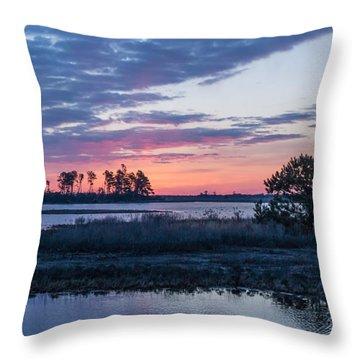 Chincoteague Wildlife Refuge Dawn Throw Pillow