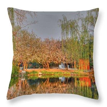 Chineese Garden Throw Pillow
