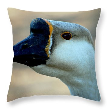 Chinese Goose Throw Pillow by Lisa Phillips