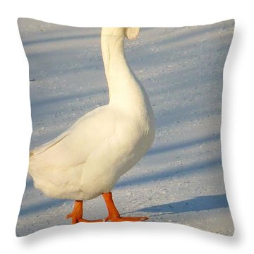 Chinese Goose Winter Throw Pillow