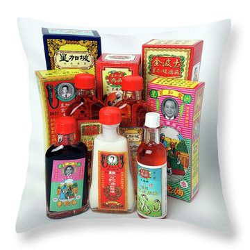 Traditional Chinese Medicine Throw Pillows
