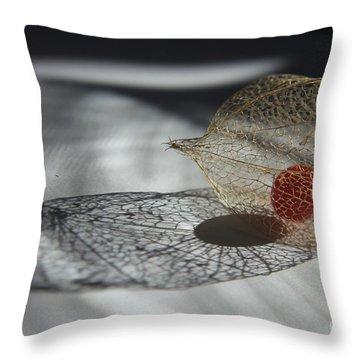 Chinese Lantern Plant - B Throw Pillow