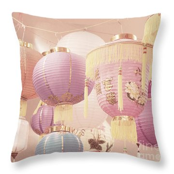 Chinese Lanterns Throw Pillow by Cindy Garber Iverson