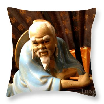 Throw Pillow featuring the photograph Chinese Medicine by Rose Wang