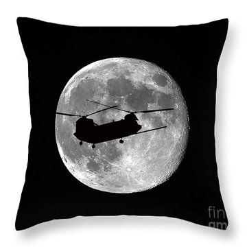 Chinook Moon B And W Throw Pillow by Al Powell Photography USA