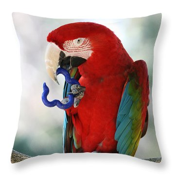 Throw Pillow featuring the photograph Chip by Judy Whitton