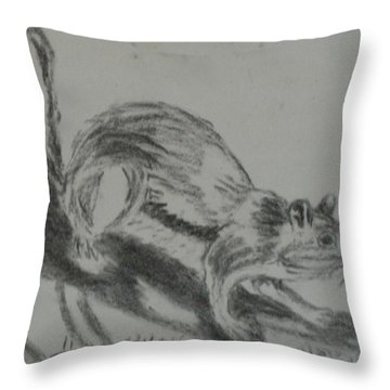 Chipmunk On The Prowl Throw Pillow