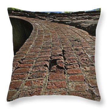Chipmunks View Of A Stone Bridge Throw Pillow