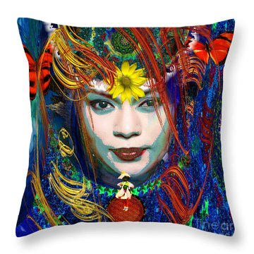 My Solar Life Throw Pillow by Joseph Mosley