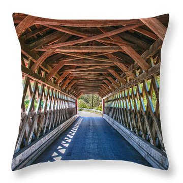 Chiselville Bridge Throw Pillow