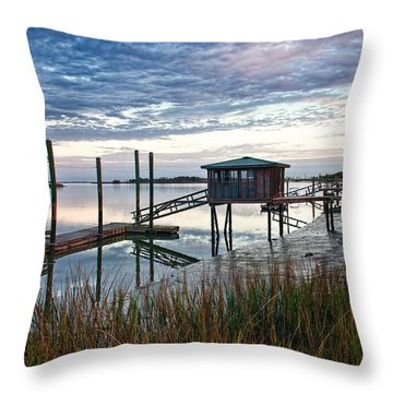 Chisolm Island Docks Throw Pillow